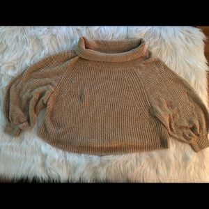Cozy cropped versatile sweater Free People